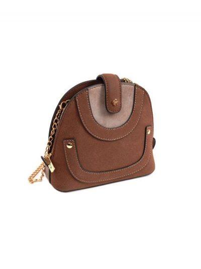 crossbody malá kabelka hnedá