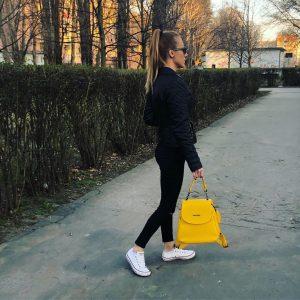kožené doplnky ruksak farebné