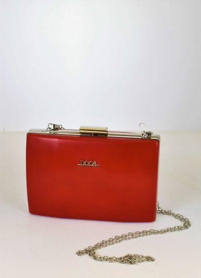večerná kabelka s retiazkou červená farba