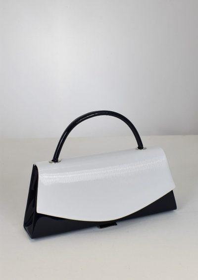 Elegantná spoločenská kabelka v krásnej modro bielej farebnej kombinácii