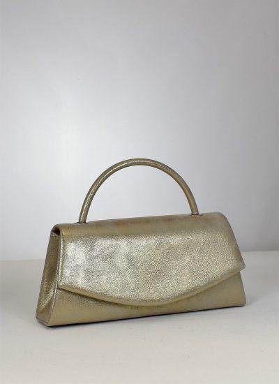 Elegantná spoločenská kabelka v krásnej zlatej farbe