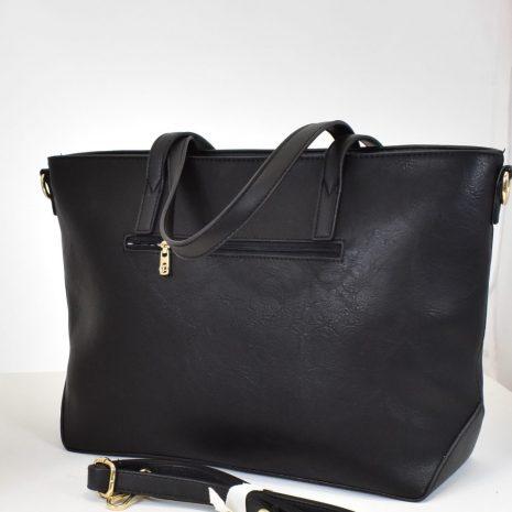 čierna kabelka s prídavným ramienkom