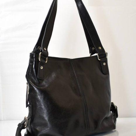 Elegantná dámska kabelka v pravom Vintage štýle v čiernej farbe