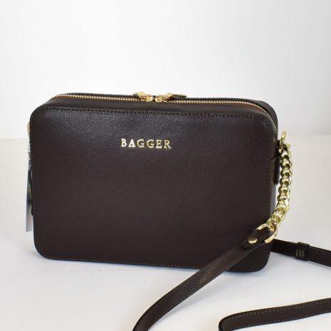 Crossbody kožená kabelka BAGGER hnedá