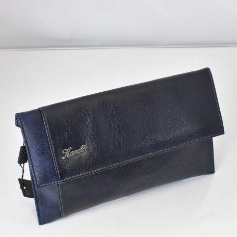 Dámska listová kabelka modrá