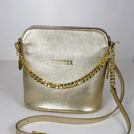 bagger kabelky kožené zlaté