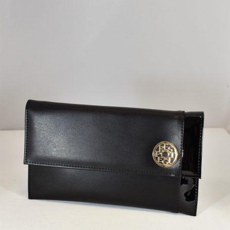 Listová dámska kabelka čierna