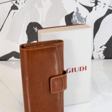 Veľká kožená peňaženka GIUDI hnedá