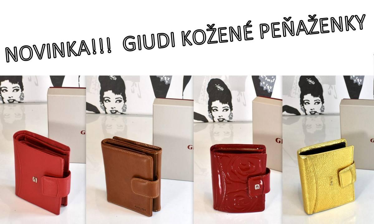 pánske dámske kožené peňaženky značkové giudi