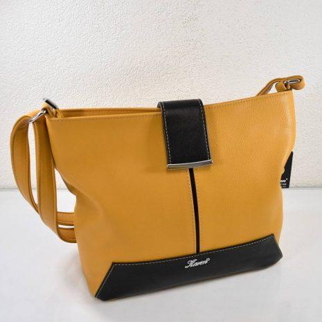Praktická dámska žltá kabelka na každý deň