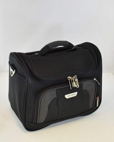 Praktická cestovná taška v štýle kufríku z pevného materiálu