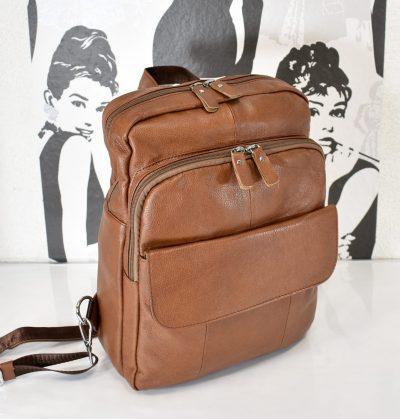 Praktický kožený vak/batoh vhodný pre dámy
