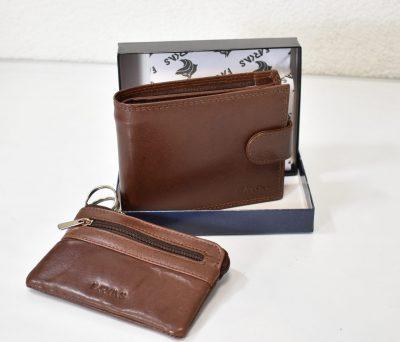Kožená peňaženka pre pánov s kľúčenkou