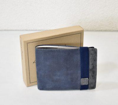 Športovo elegantná peňaženka pre pánov z brúsenej koži
