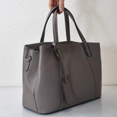 dámske kožené šedé kabelky do ruky