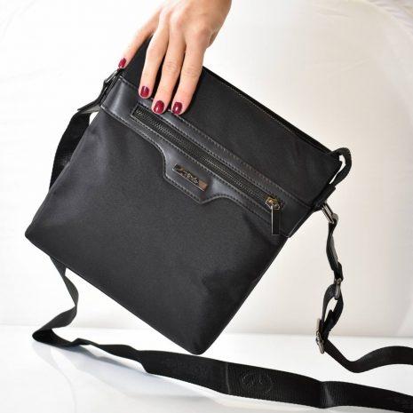 Pánska športovo elegantná čierna taška