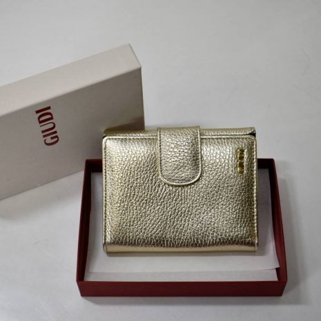 Dámska GIUDI peňaženka zlatá kožená stredná