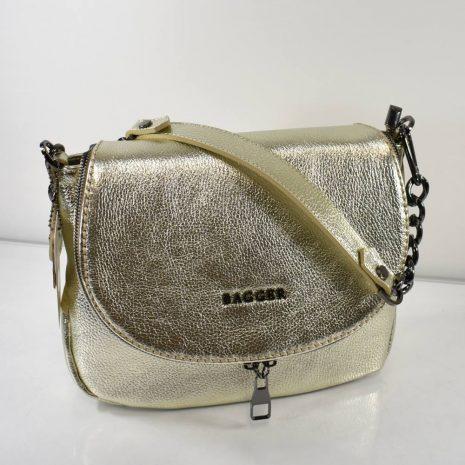 Praktická, športovo elegantná dámska kabelka v zlatistej farbe