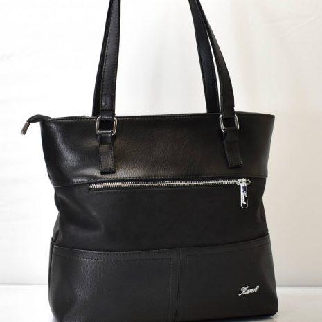 Praktická dámska čierna kabelka na rameno KAREN