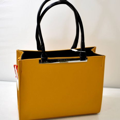 Elegantná dámska okrová kabelka na rameno