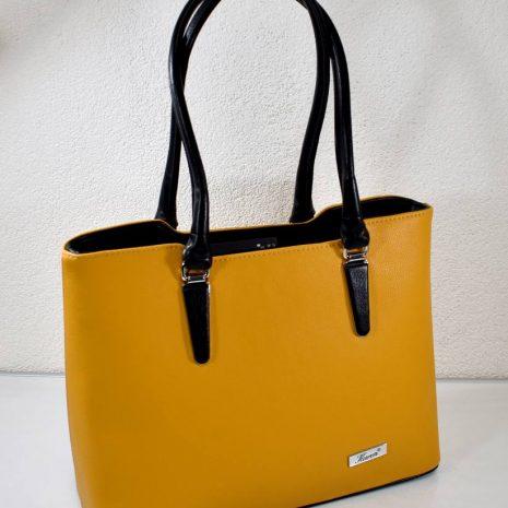 Elegantná dámska žlto čierna kabelka KAREN
