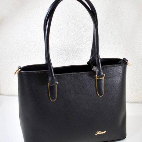 Elegantná dámska čierna kabelka na rameno