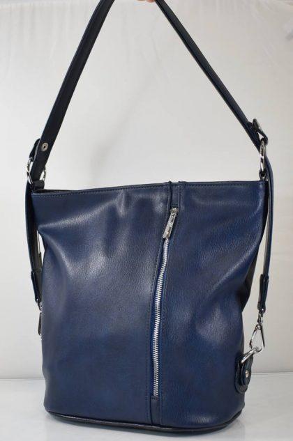 Praktická crossbody dámska kabelka v modrej farbe