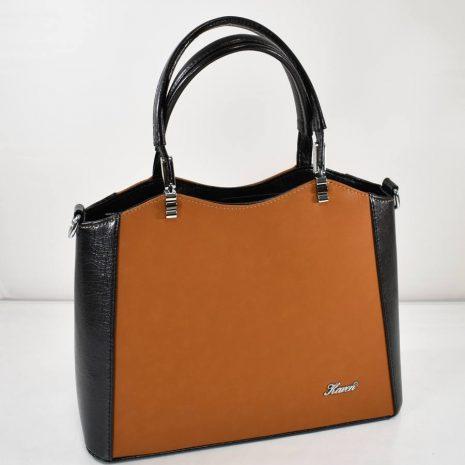 Elegantná dámska hnedá kabelka do ruky KAREN