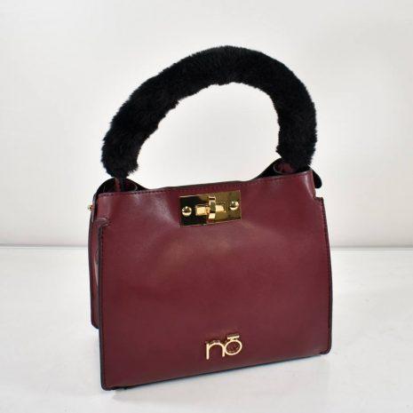 Dámska malá elegantná hnedá kabelka do ruky