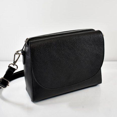 čierne kožené spoločenské dámske kabelky