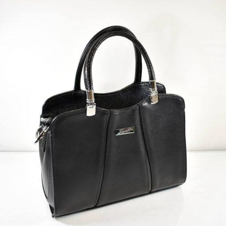Elegantná dámska čierna kabelka do ruky