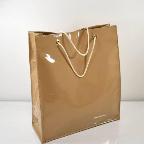 """Elegantná nákupná taška """"plastačka"""" hnedá BAGGER"""