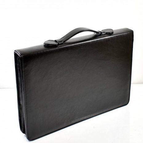 Elegantná pracovná taška na zips, do ruky v čiernej farbe vhodná aj pre pánov