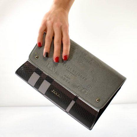 Športovo elegantná listová kabelka DOCA šedá