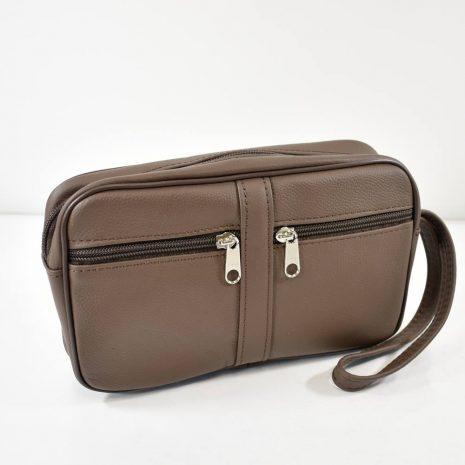 Menšia pánska hnedá taška do ruky David Jones