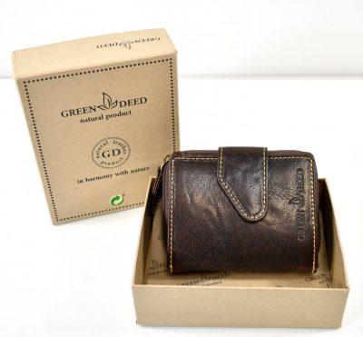 Ručne vyrábaná peňaženka z prírodnej recyklovanej kože, šetrná k životnému prostrediu