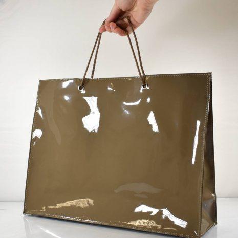 Elegantná veľká nákupná hnedá taška BAGGER