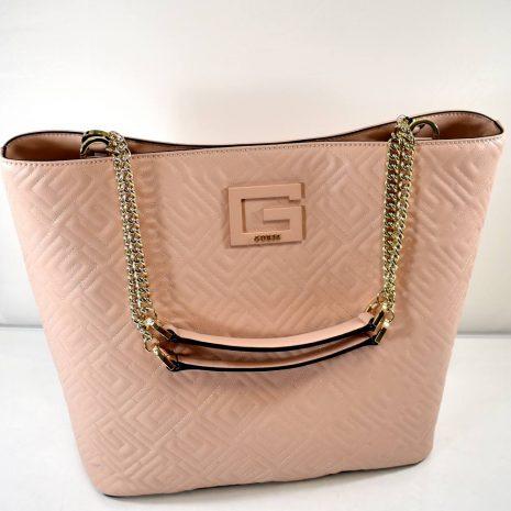 Elegantná dámska pudrová kabelka GUESS s retiazkami