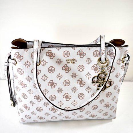 Elegantná biela GUESS dámska kabelka na rameno