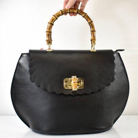 elegantné extravagantné čierne kožené kabelky