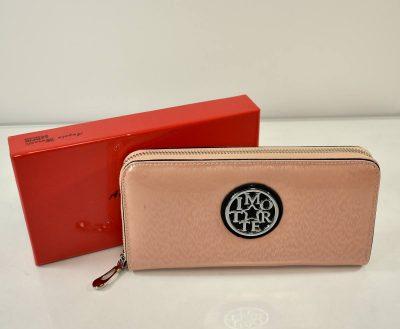 Elegantná dámska peňaženka v krásnej pudrovo ružovej farebnej kombinácii