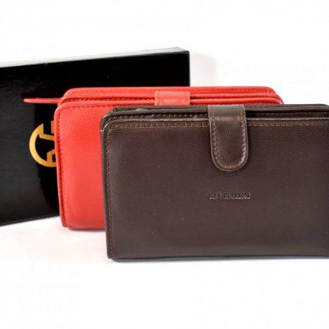 Kožená unisex tmavo hnedá peňaženka