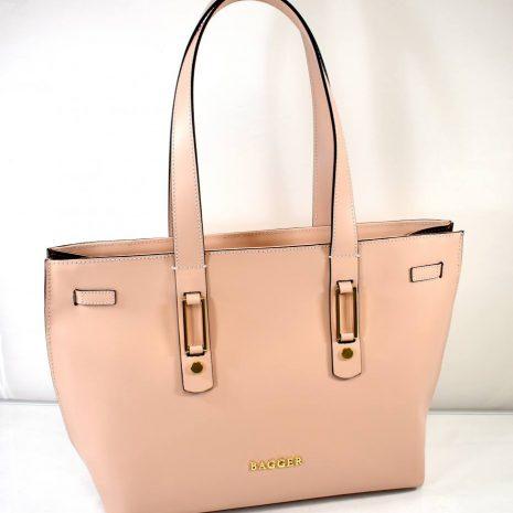 Elegantná dámska kožená pudrová kabelka BAGGER