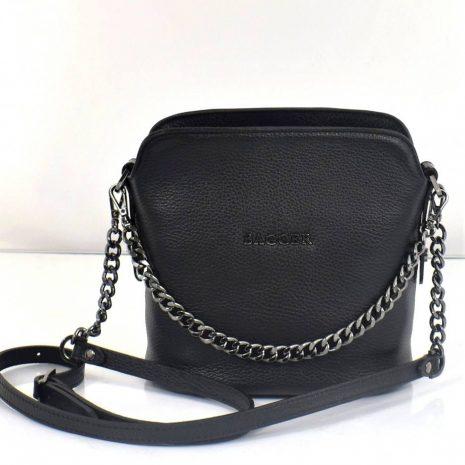 BAGGER kožená čierna crossbody kabelka 0072
