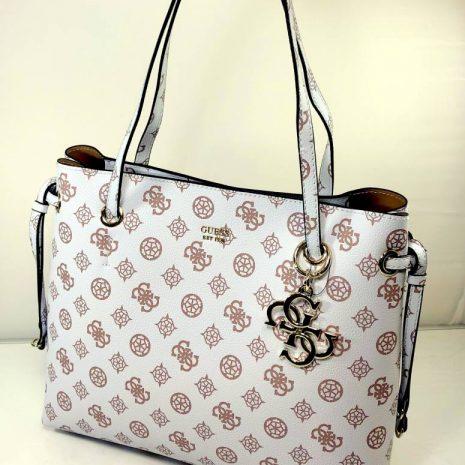 Elegantná biela GUESS dámska kabelka na rameno 764