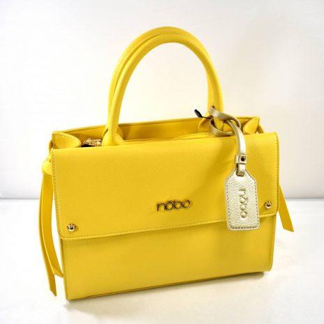 Elegantná dámska žltá kabelka do ruky