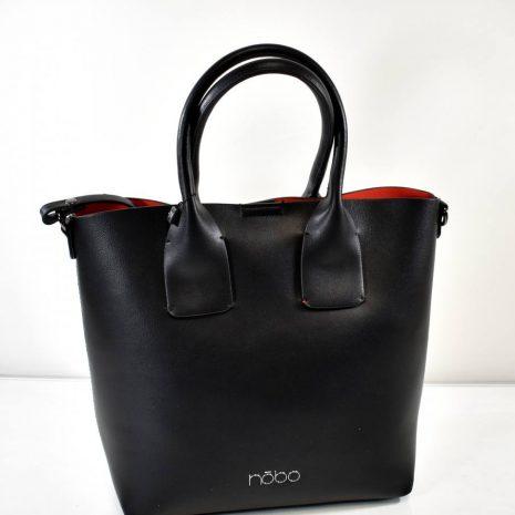 Dámska čierna kabelka s kozmetickou taškou