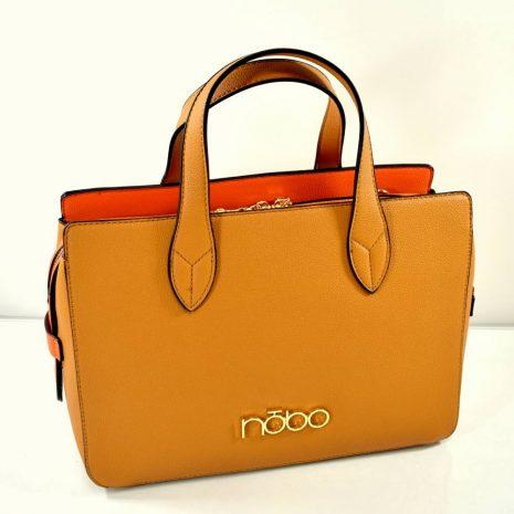Elegantná biznis dámska kabelka hnedá/camel NOBO N020
