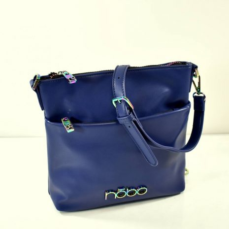 Dámska crossbody modrá kabelka so zdobením