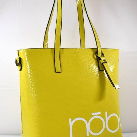 Veľká shopper dámska žltá kabelka na rameno